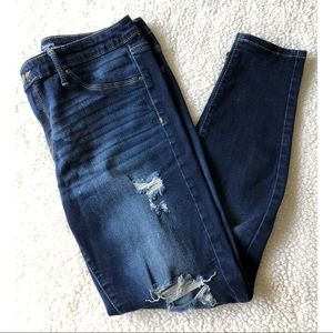 Mossimo Blue Jeans - Jeggings with Ripped Holes